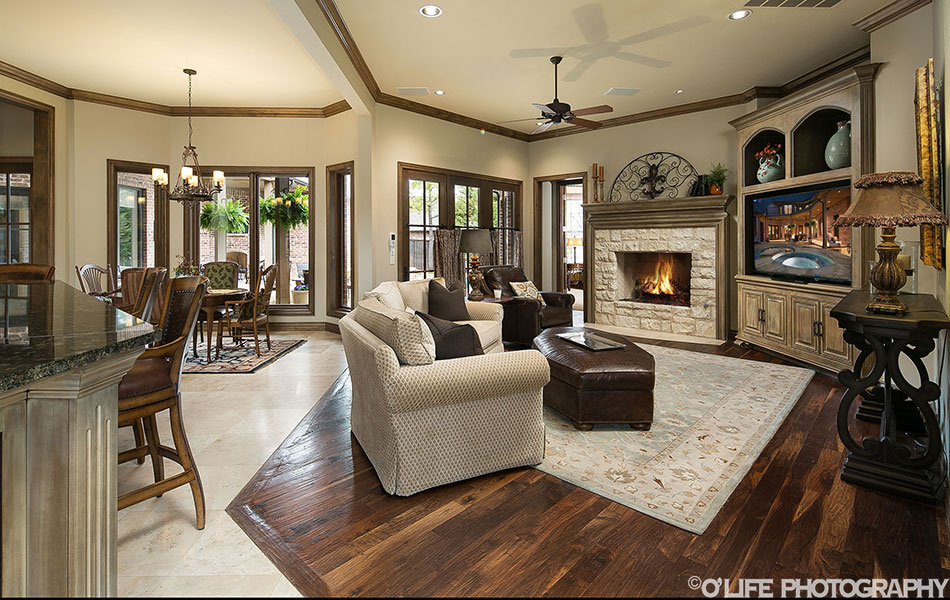 Edmond Living Room Real Estate Photography