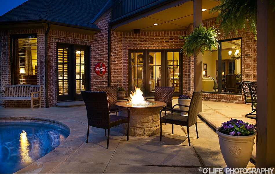 Edmond Twilight with Fire Pit