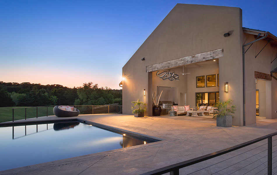 Forest Creek Luxury Home Back Patio