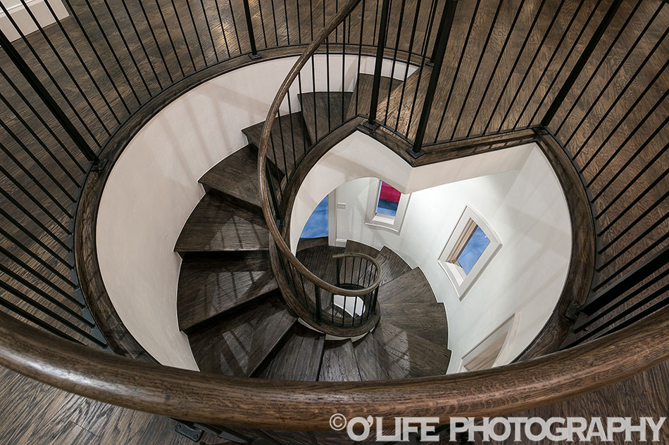 Staircase To Garage In Luxury Home