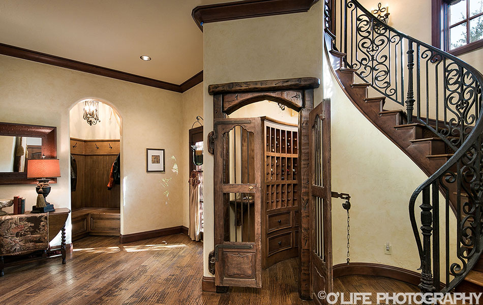 Nichols Hills Staircase and Wine Room
