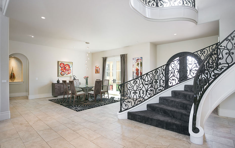 Luxury Home Staircase and Dining