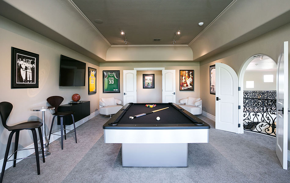 Luxury Home Game Room