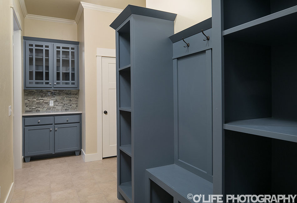 New Home Mud Room Photo in Guthrie.