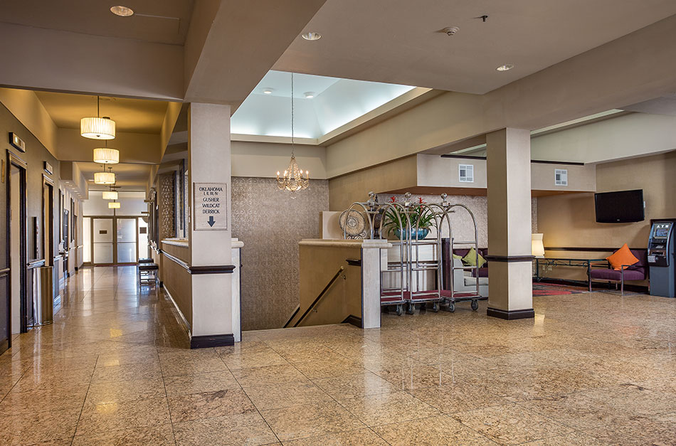 Crowne Plaza Hotel staircase to meeting rooms.