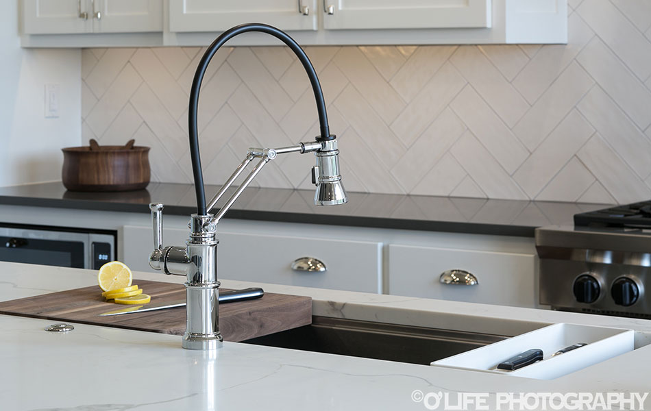 Interior Design Photography of Kitchen Faucet